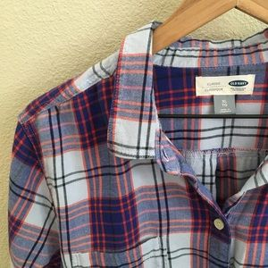 Old Navy Plaid Button-Up